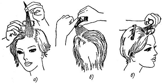накрутки волос на бигуди.